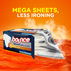 Bounce WrinkleGuard Mega Sheet Outdoor Fresh Dryer Sheets reduce the need for ironing.