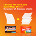 1 Bounce Pet Hair & Lint Guard Mega sheet = the power of 3 regular dryer sheets.