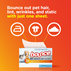 Bounce out pet hair, lint, wrinkles and static just with 1 dryer sheet.