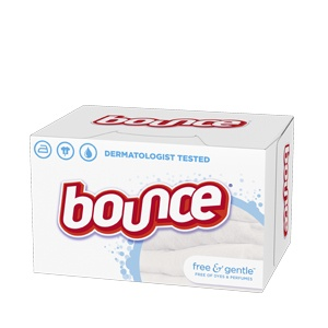 Bounce® Free & Gentle™ Dryer Sheets