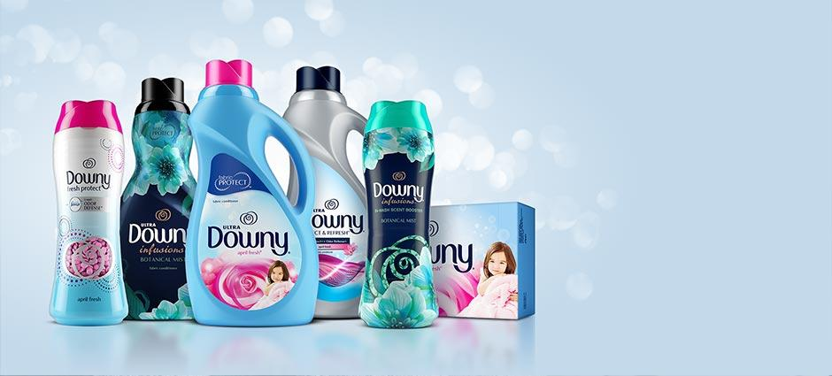 Detergent Cleans. Downy Does the Rest.