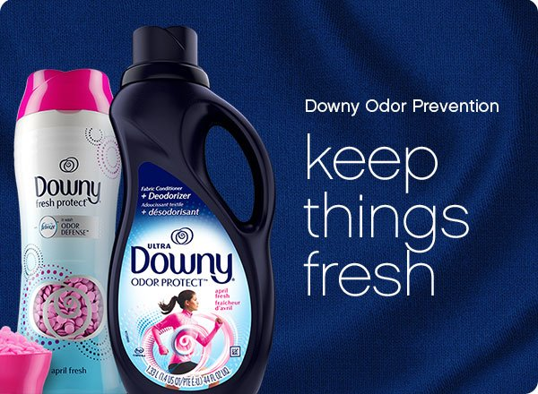 Downy Odor Prevention helps you prevent body odor and other odors in your clothes.