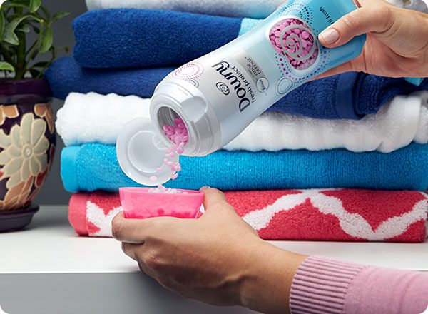 With Downy Fresh Protect In-Wash Odor Shield Scent Beads, use as little or as much as you want.