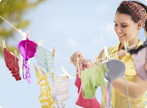 Line drying is a great way to dry any clothes that can't be machine dried.