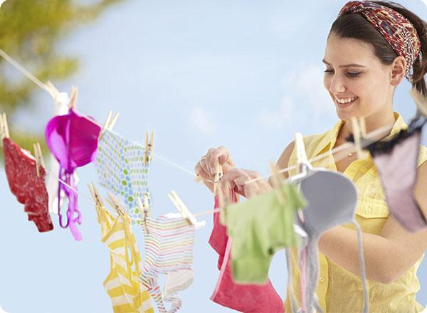 Line drying is a great way to dry any bras that can't be machine dried.