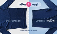after 1 wash | Detergent Alone vs Detergent + Downy | Dramatization after 30 seconds