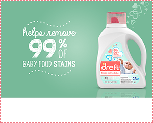 Helps remove 99 percent of baby food stains