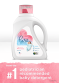 Dreft Pure Gentleness Baby Liquid Laundry Detergent product is the number one recommendation for baby detergent from pediatricians