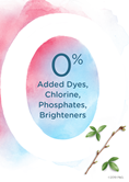 No added Dyes, Chlorine, Phosphates, or Brighteners